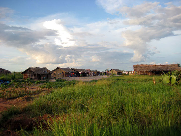 A small village in the Equator region of DR Congo