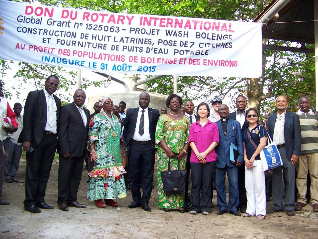 August 31, 2015 Bolenge project inauguration.