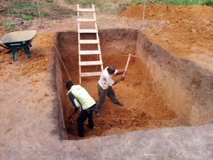 Latrine pit digging